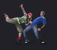 подростки танцы breakdance Стоковое Изображение RF