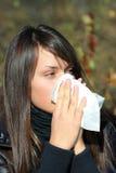 подростковое девушки больное Стоковое Фото