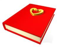 подростковое дневника красное Стоковая Фотография