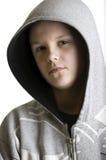 подростковое мальчика с капюшоном Стоковые Изображения RF