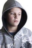 подростковое мальчика с капюшоном Стоковое Изображение RF