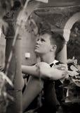 подростковое мальчика melancholic Стоковое фото RF