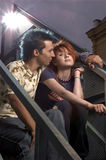 подростковое пар счастливое сладостное Стоковые Фотографии RF