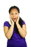 подростковое удивленное девушкой стоковые фотографии rf