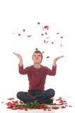 подросток влюбленности мальчика Стоковое Изображение RF