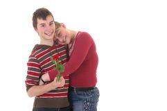 подросток влюбленности Стоковая Фотография