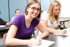 Подросток в школе Стоковая Фотография RF