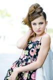 подросток девушки модельный Стоковая Фотография