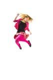 подросток девушки скача стоковое фото