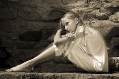 подросток девушки унылый Стоковые Фото