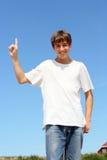 подросток перста вверх Стоковые Фото