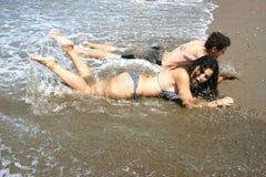 подросток пляжа Стоковые Фотографии RF