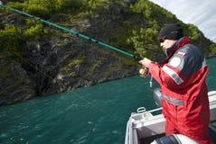 подросток рыболовства Стоковое Изображение