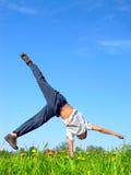 подросток стойки рукоятки Стоковое Изображение