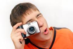 Подросток с Photocamera Стоковые Фотографии RF
