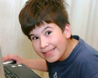 подросток тетради Стоковая Фотография