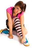 подросток emo унылый Стоковая Фотография