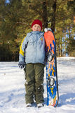 подросток snowboard Стоковое Фото