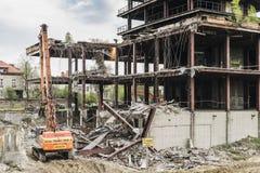 Подрывание здания Стоковое Изображение RF