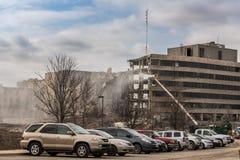Подрывание серебряной перекрестной больницы Стоковые Фото