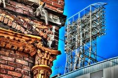 Подрывание Detroits старое Tiger Stadium в влиянии HDR Стоковое фото RF