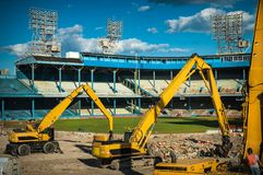 Подрывание Detroits старое Tiger Stadium Стоковая Фотография