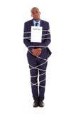 Подряд связанный бизнесменом Стоковые Фотографии RF