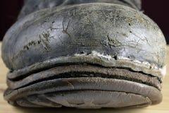Подсказка старого ботинка боя стоковое изображение rf