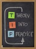 подсказка теории практики акронима стоковое изображение rf