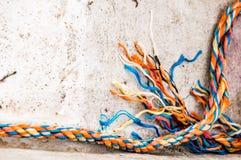 Подсказка cutted веревочки стоковое изображение rf