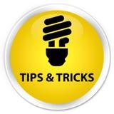 Подсказки и кнопка фокусов (значка шарика) наградная желтая круглая иллюстрация штока