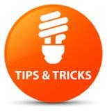 Подсказки и кнопка фокусов (значка шарика) оранжевая круглая бесплатная иллюстрация