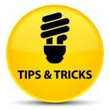 Подсказки и кнопка фокусов (значка шарика) специальная желтая круглая иллюстрация вектора