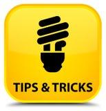 Подсказки и кнопка фокусов (значка шарика) специальная желтая квадратная иллюстрация штока