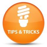 Подсказки и кнопка фокусов (значка шарика) специальная оранжевая круглая иллюстрация вектора