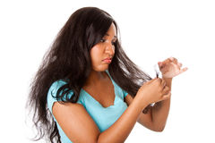 подсказки разделения волос Стоковые Фотографии RF