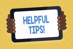 Подсказки текста сочинительства слова полезные Концепция дела для советов, который дали для того чтобы быть полезным знанием в пл иллюстрация вектора