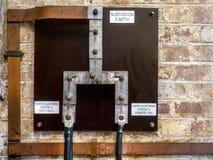 Подстанция зарывая систему стоковое фото rf