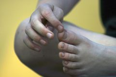 подсчитывать пальцы ноги Стоковая Фотография RF
