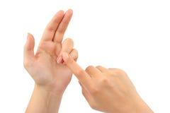 подсчитывать руки Стоковое Изображение RF