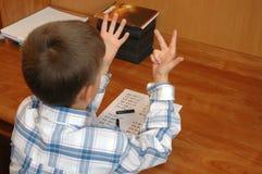 подсчитывать студента Стоковые Фотографии RF