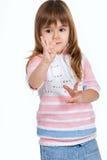 подсчитывающ девушку перстов немного Стоковое Изображение RF