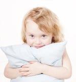подушка девушки Стоковое Фото