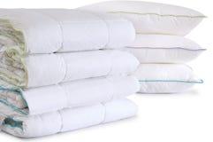 подушки изолированные duvet Стоковое Фото