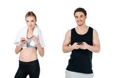 Подходящие пары с smartphones Стоковое Изображение