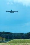 подход к воздушных судн стоковое фото
