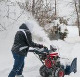 подъездная дорога snowplowing Стоковое Фото