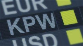 Подъем выигранный жителем Южной Кореи, падение Валютный рынок мира Тариф валюты изменяя иллюстрация штока
