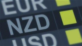 Подъем доллара Новой Зеландии, падение Валютный рынок мира Тариф валюты изменяя иллюстрация вектора