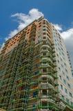 подъем конструкции здания высокий вниз конструкция большого здания Стоковое Изображение RF